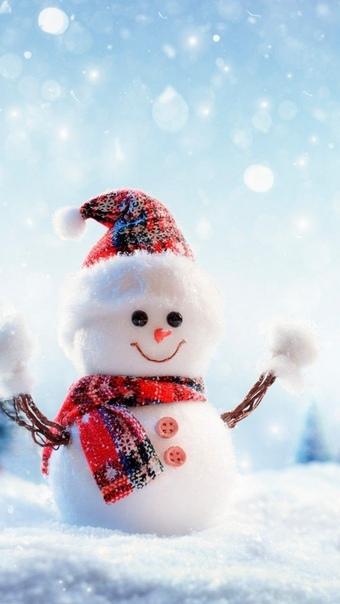 Картинки Новогодние Снеговик Для Обоев Телефона