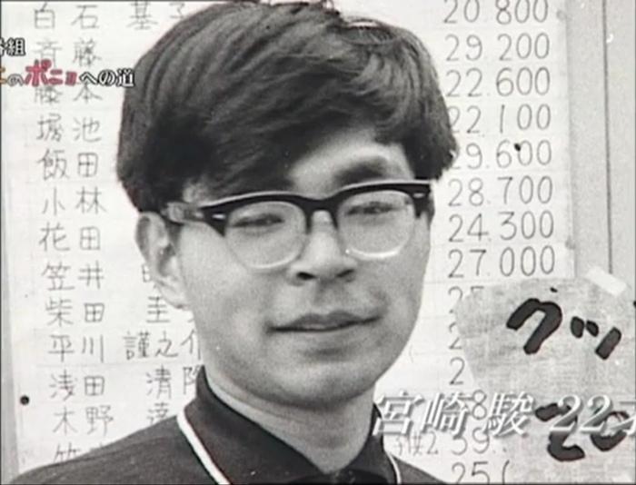 Хаяо Миядзаки в начале карьеры, будущему мастеру анимации 22 года