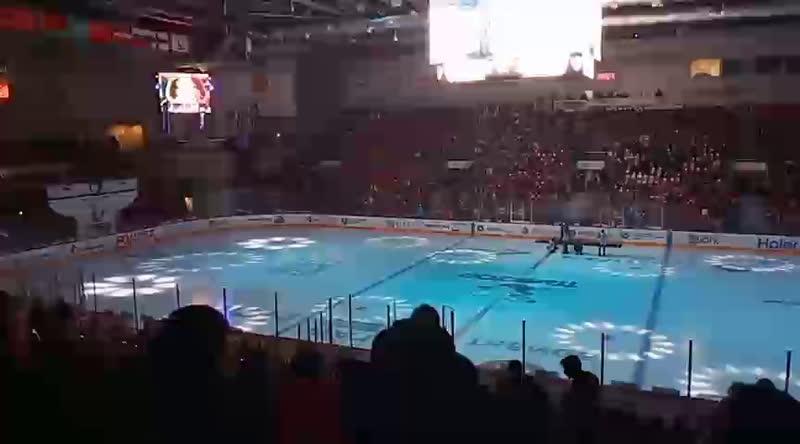 Самая большая хоккейная майка в России. Прямая трансляция из арены Трактор