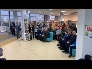 Александр Беглов в новой библиотеке на Тверской