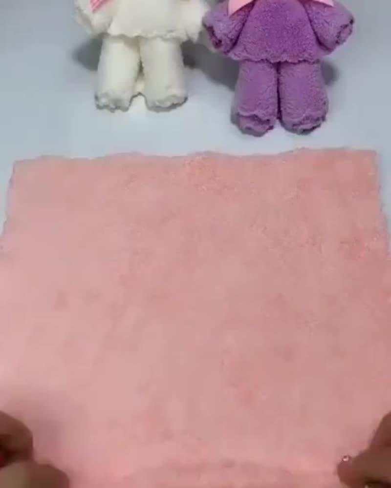 Мишка из полотенец