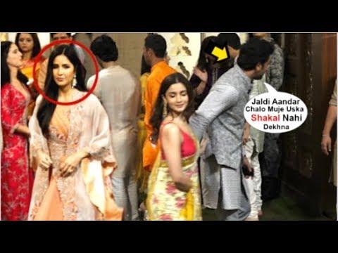 Ranbir Kapoor IGNORES Katrina Kaif When Wid GF Alia Bhatt At Mukesh Ambani Ganpati 2019