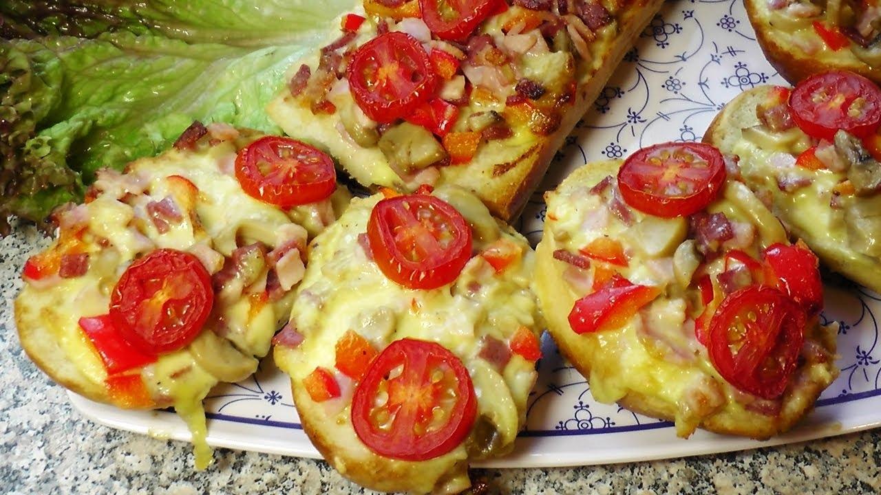 Батон с помидорами и сыром в духовке: лучшие рецепты