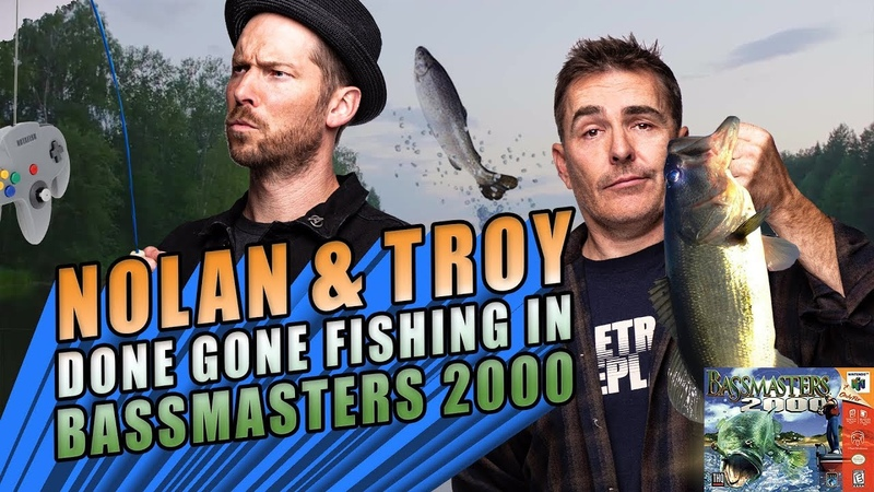 Nolan North and Troy Baker Done Gone Fishing in Bassmasters 2000