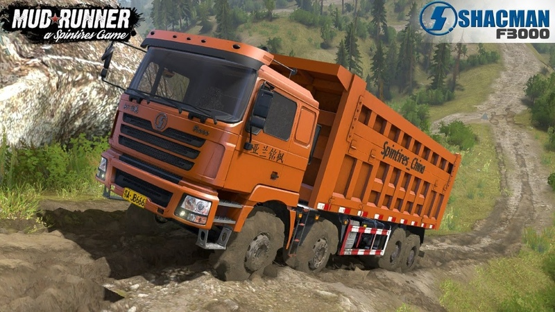 Spintires: MudRunner - SHAANXI F3000 Off-road Driving and Difficult Climb