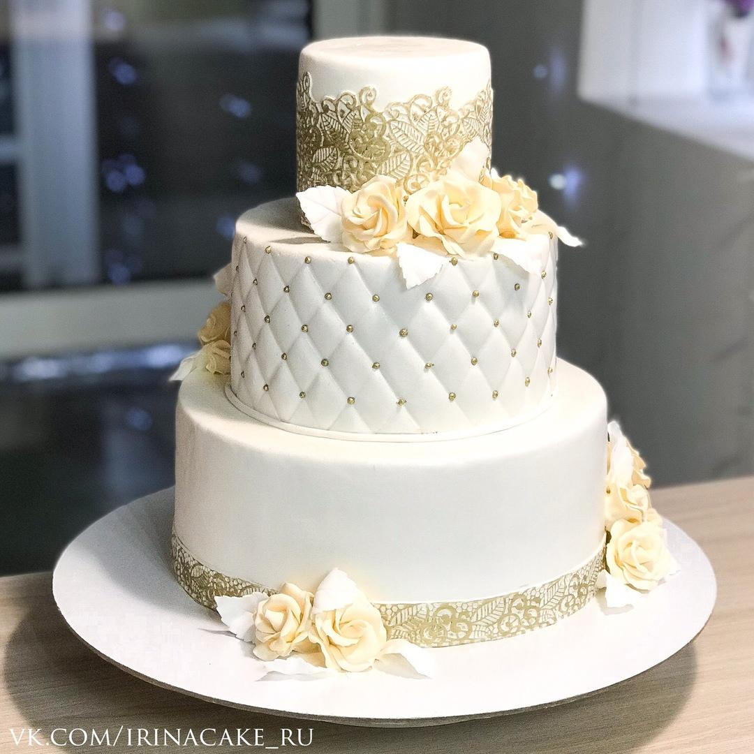 Золотой свадебный торт (Арт. 529)