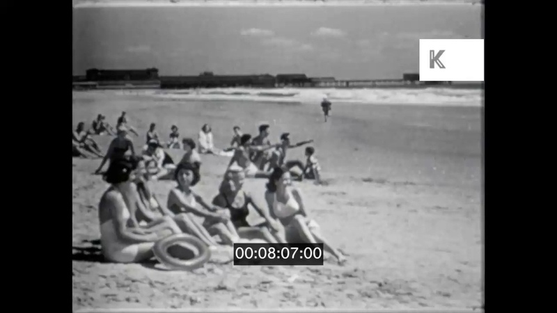 1940s 1950s USA Jersey Shore Spring Break Young People at the Beach 16mm