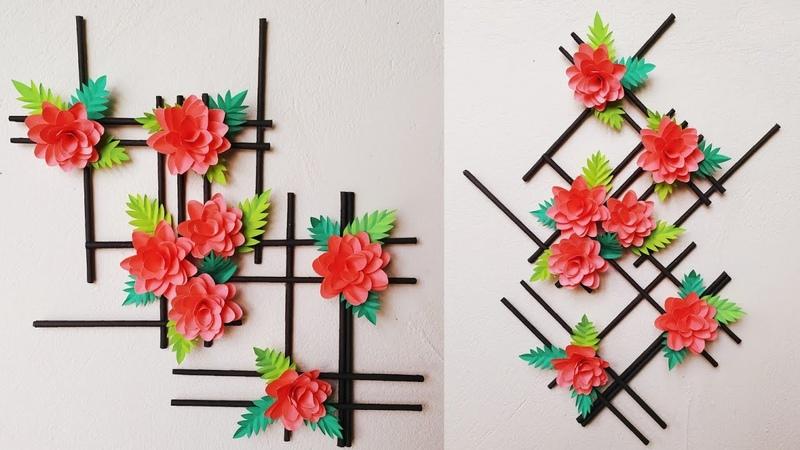 Wallmate/paper wallmate/paper wall hangings/wall hanging craft ideas/paper flower wall hanging 116