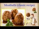 Meatballs classic recipe Book of recipes Bon Appetit