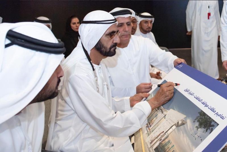 Mohammed Ibn Rashid Al Maktoum tại buổi giới thiệu dự án SkyWay cho Dubai