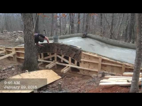JD farms builds a stone bridge.mov