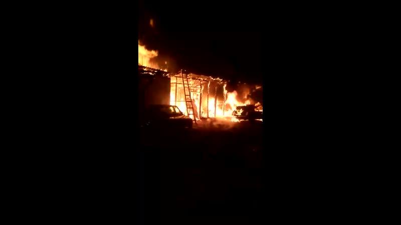 Крупный пожар в Исилькульском районе