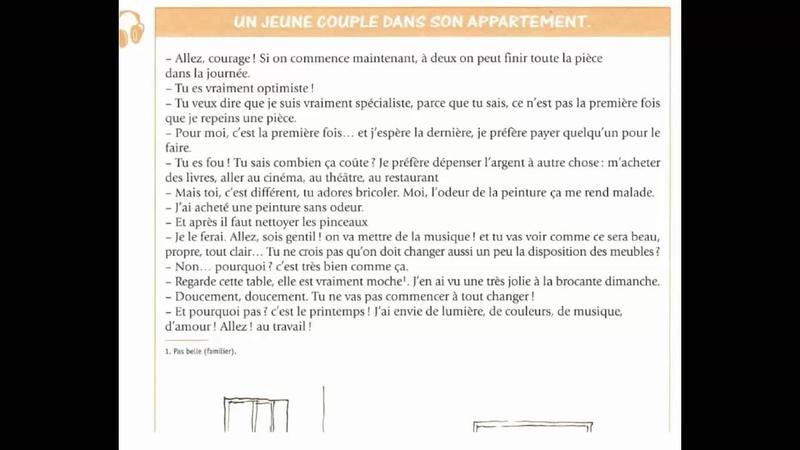 Dialogue En Français Nº:165 Un jeune couple dans son appartement