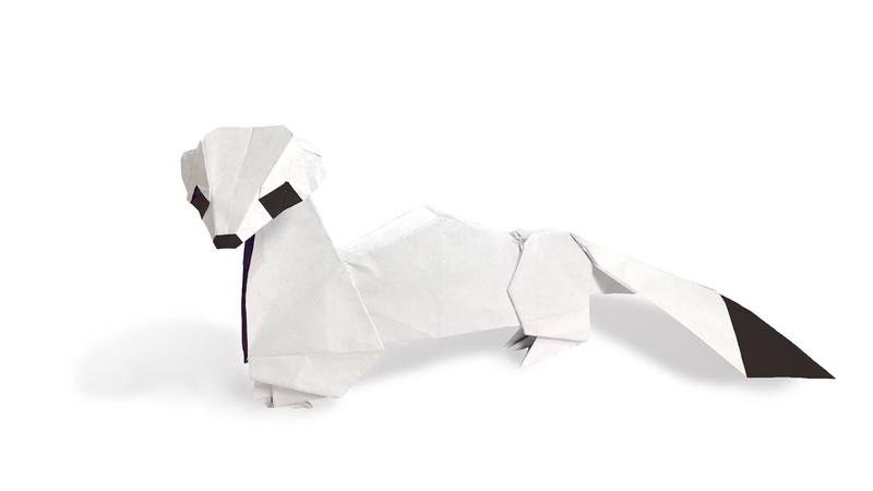 折り紙 オコジョ Origami Ermine