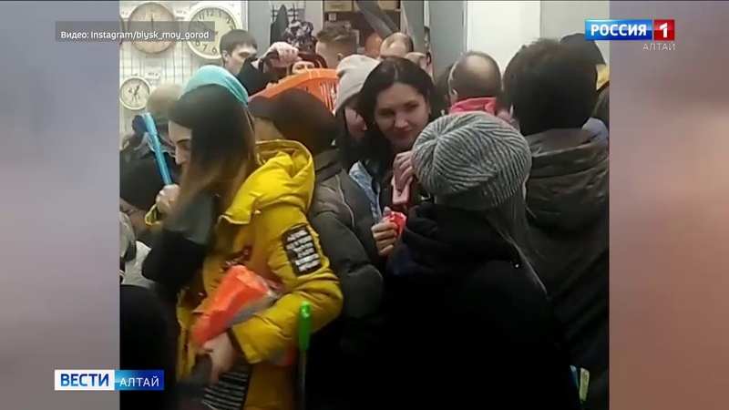 В Бийске несмотря на ограничительные меры устроили праздник в честь открытия магазина