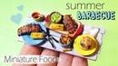 Miniature Summer Barbecue Tutorial Dolls Dollhouse SugarCharmShop