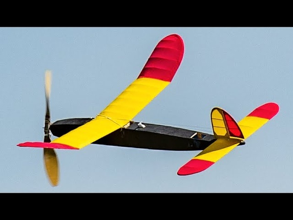Model Airplane RC Assisted Rubber Powered 1941 Gollywock 6 17 20