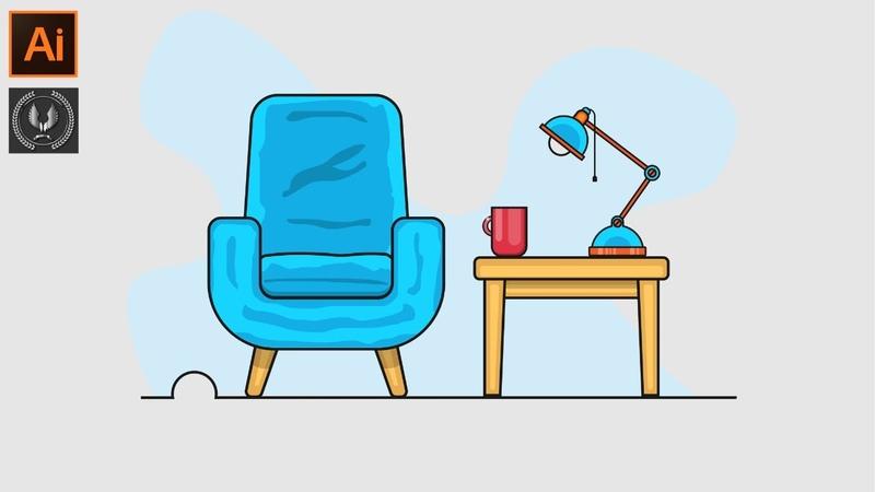 How make a Room Background Design in | Adobe Illustrator CC Tutorials