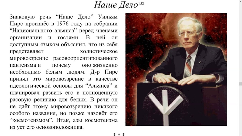Уильям Лютер Пирс Наше Дело 1976
