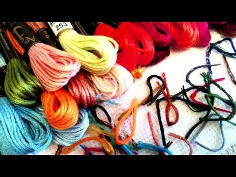 Голден Кайт вышивка Московский дворик организация процесса Сross stitch Отчет 12