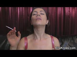 Ella Kross smoking