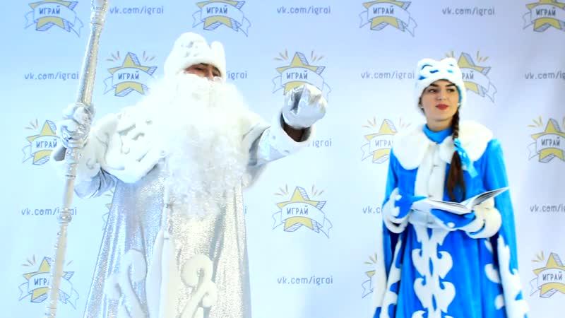 Пара Дед Мороз серебро и Снегурочка Кремлевская с узорным мехом