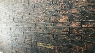 Exterior texture design on interior wall||apex createx bricks