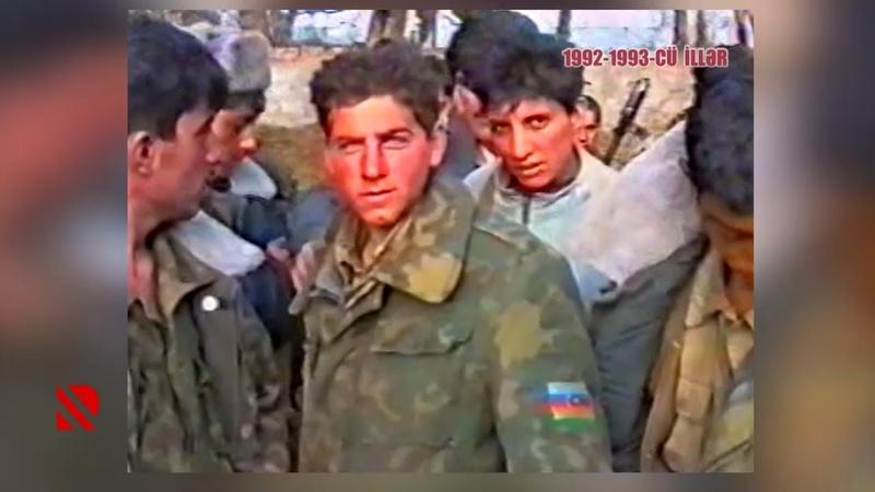 Müdafiə naziri Rəhim Qazıyevin acınacaqlı halda olan əsgərləri (1992-ci il)