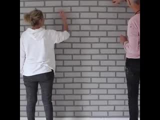Отделка стены под кирпич своими руками