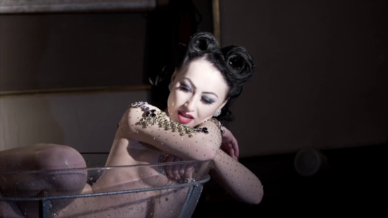 Champagne Glass on the Burlesque Show Les Fleurs de Folie in Moscow