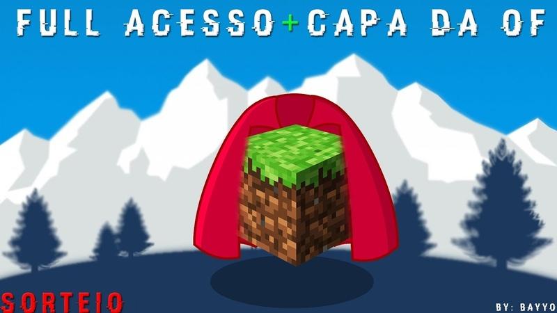 SORTEIO DE 1 MINECRAFT ORIGINAL FULL ACESSO 1 CAPA DA OF