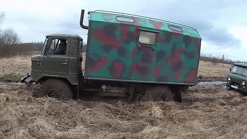 Шишига и дизельный турбо УАЗ в грязи!OFF-ROAD!
