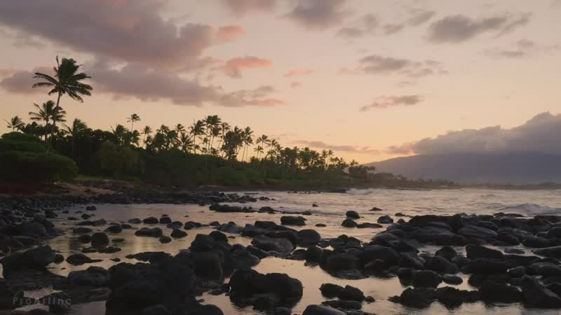 Baby Beach Sunset in 4K UHD Maui Hawaii Beautiful Sunset with Soothing Ocea