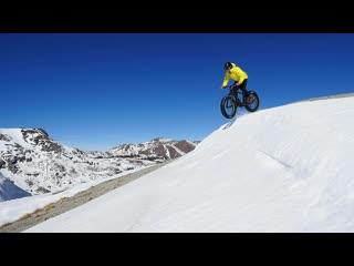 Snow Mountainbiking In The Sierra Nevadas  Fatbike