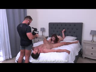 Bts Of Leah Winters Blowjob Photoshoot With Jay Smooth Including Facial