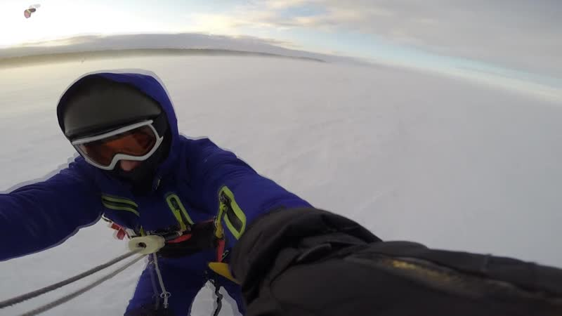 Snowkiting rybinsk 16m s