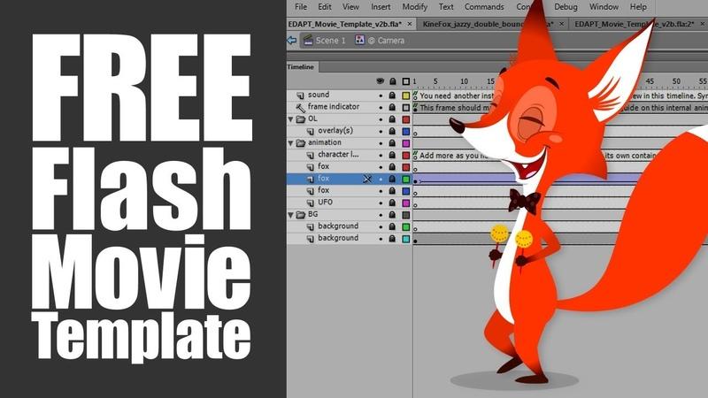 Free Adobe Animate CC Flash Movie Template