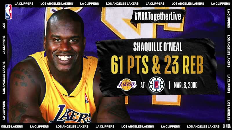 Lakers @ Clippers Shaq scores career high 61 on his 28th birthday March 6 2000