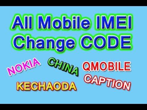 All China Mobile IMEI Change Codes   Nokia   China  Qmobile   Kechaoda