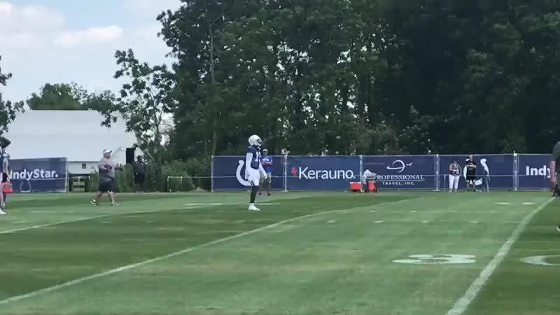 Here's Parris Campbell working on punt returns. Easy to see why the Colts want to work the speedster out on the return game. Col