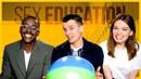 Sex Education Stars Play Ball Asa Butterfield Ncuti Gatwa Emma Mackey