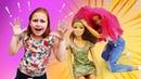 Игры для девочек - У куклы Барби День Рождения! Что приготовили подруги – Видео с игрушками.