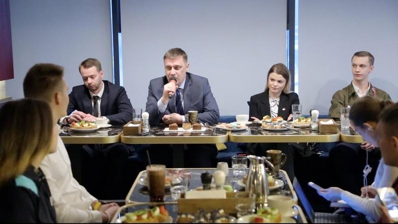 Пресс завтрак с министром образования Новосибирской области С Федорчуком