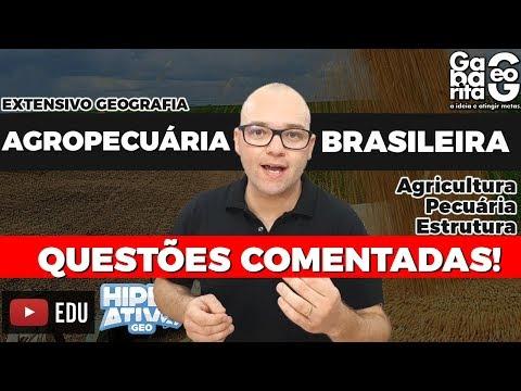 🔴 AO VIVO   Exercícios de Geografia do Brasil - Agropecuária Brasileira