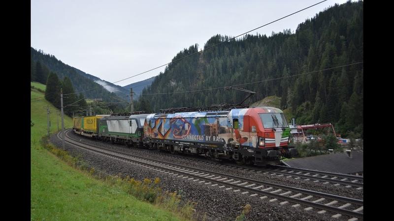 Brennerbahn am 26 09 19 in Wolf und Mühlbachl Bunter Brennerverkehr
