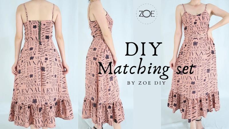 DIY Matching Set with zipper Develop Basic Pattern Zoe DIY