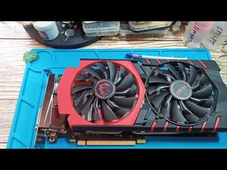 Как понизить температуру видеокарты на 20 градусов в MSI GeForce 950 2GB DDR5/ Чистка видеокарты