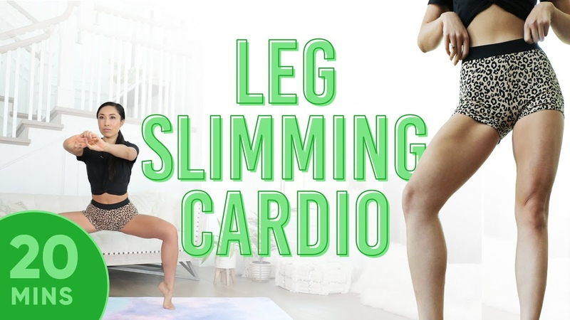 20 минутный кардио пилатес для стройных ног 20 Minute Leg Slimming Cardio Pilates Workout 7 Day Thigh Challenge do this video every day