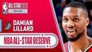 Damian Lillard 2020 All-Star Reserve   2019-20 NBA Season