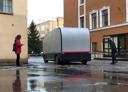 Российские разработчики показали испытания прототипа электрического грузовика без кабины